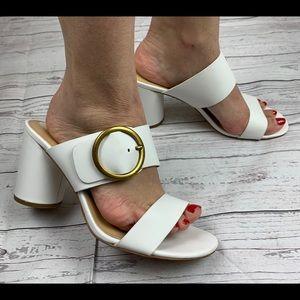 Michael Michael Kors White Heeled Sandals 9